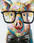 Little Pig with Glasses & Bow Tie
