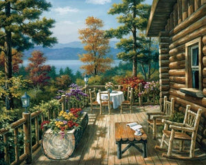 Log Cabin Paint by Numbers