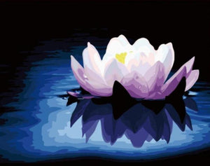 Lotus Acrylic Painting by Numbers