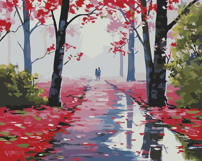 Lovers Stroll  Paint by Numbers