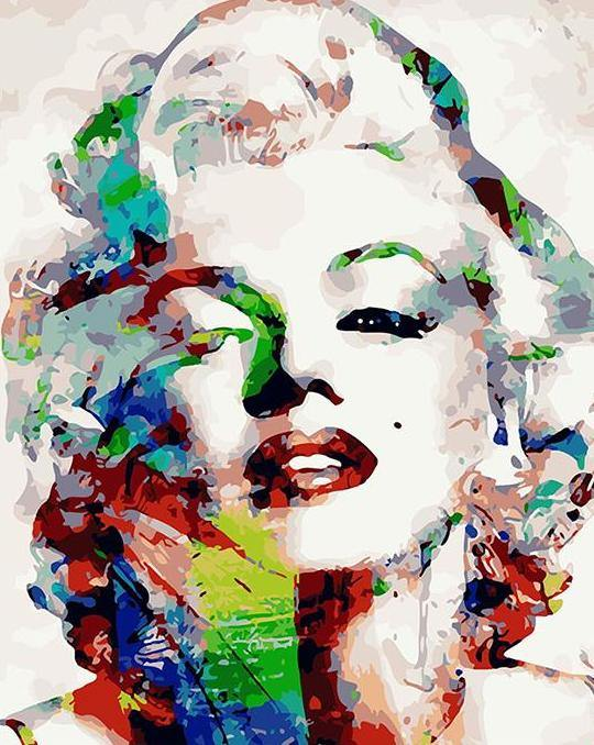 Marilyn Monroe Portrait Paint by Numbers