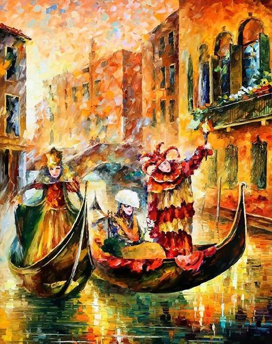 Masks Of Venice Paint by Numbers