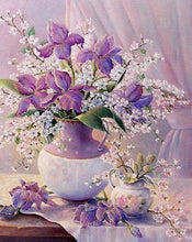 Load image into Gallery viewer, Mate field Purple Flowers Paint by Numbers