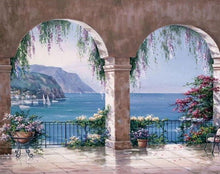 Load image into Gallery viewer, Mediterranean Arch View Paint by Numbers