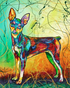 Miniature Pinscher Colorful Dog