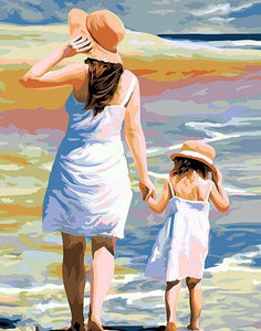 Mother & Daughter Painting by Numbers
