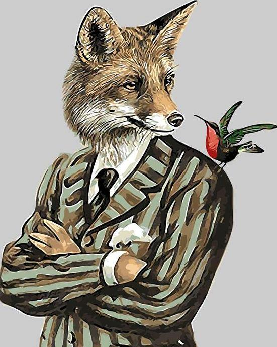 Mr. Fox Paint by Numbers