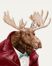 Load image into Gallery viewer, Mr. Moose Paint by Numbers Kit