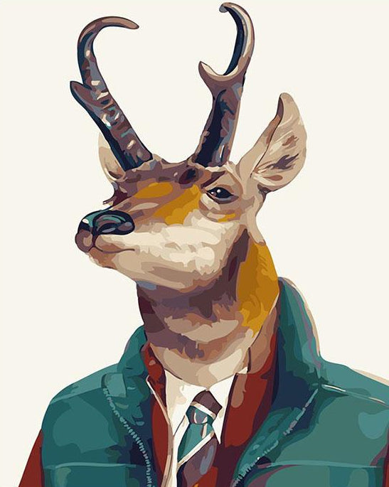 Stag in Suit Paint by Numbers