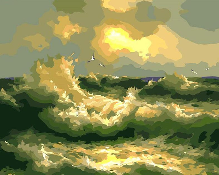 Ocean Waves Paint by Numbers