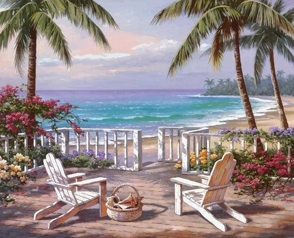 Palm Trees Painting by Numbers