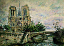 Load image into Gallery viewer, Paris Notre Dame Cathedral Paint by Numbers