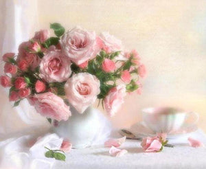 Pink Roses Paint by Numbers Kit