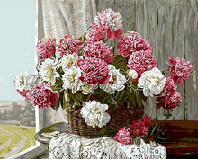 Load image into Gallery viewer, Pink & White Flowers Painting by Numbers