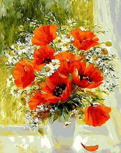 Load image into Gallery viewer, Poppy Flowers Paint by Numbers Kit