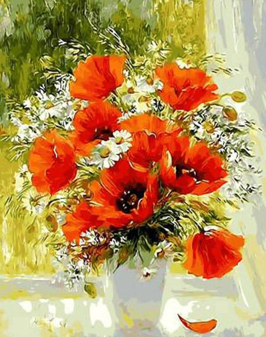 Poppy Flowers Paint by Numbers Kit
