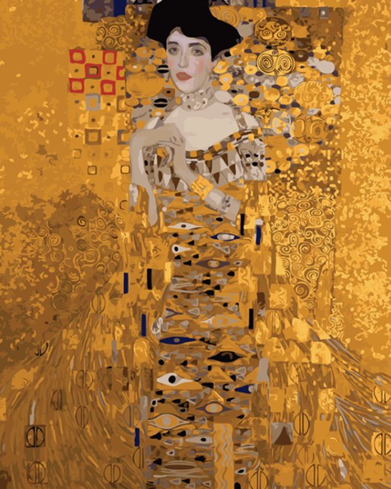 Portrait Painting by Gustav Klimt