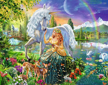 Load image into Gallery viewer, Princess & Unicorn Paint by Numbers