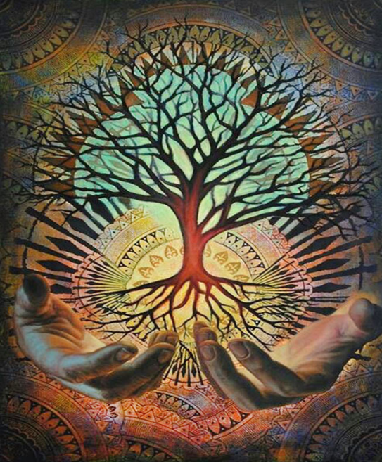 Psychedelic Tree of Life Painting Kit