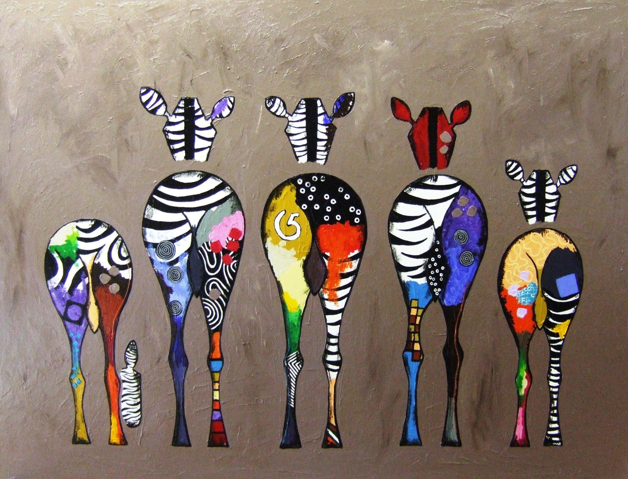 Psychedelic Zebra Art Paint by Numbers