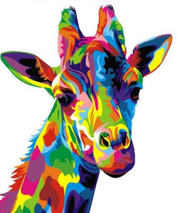 Rainbow Giraffe Paint by Numbers