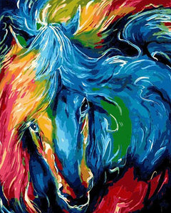 Rainbow Horse Paint by Numbers