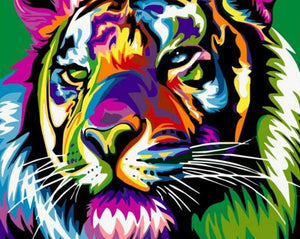 Rainbow Tiger Paint by Numbers
