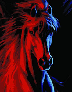 Red Horse Paint by Numbers