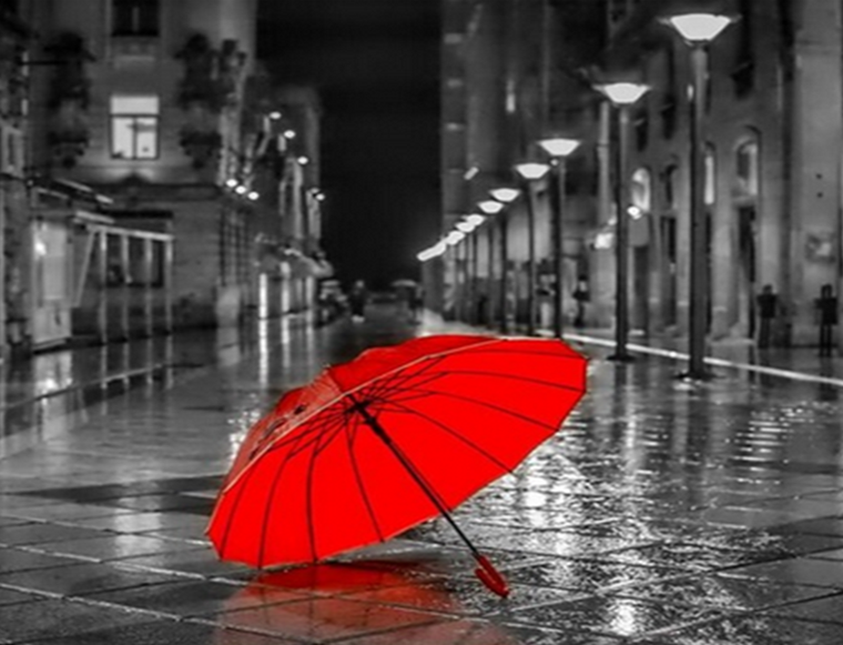 Red Umbrella Paint by Numbers
