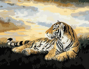 Resting Tiger Painting by Numbers