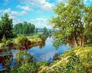 River Landscape Paint by Numbers