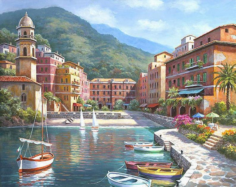 Romantic Mediterranean Paint by Numbers