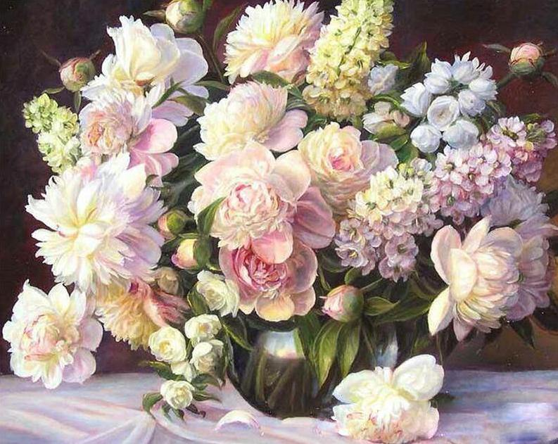 Royal Flowers Paint by Numbers