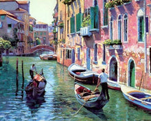 Load image into Gallery viewer, Venice Street Paint by Numbers