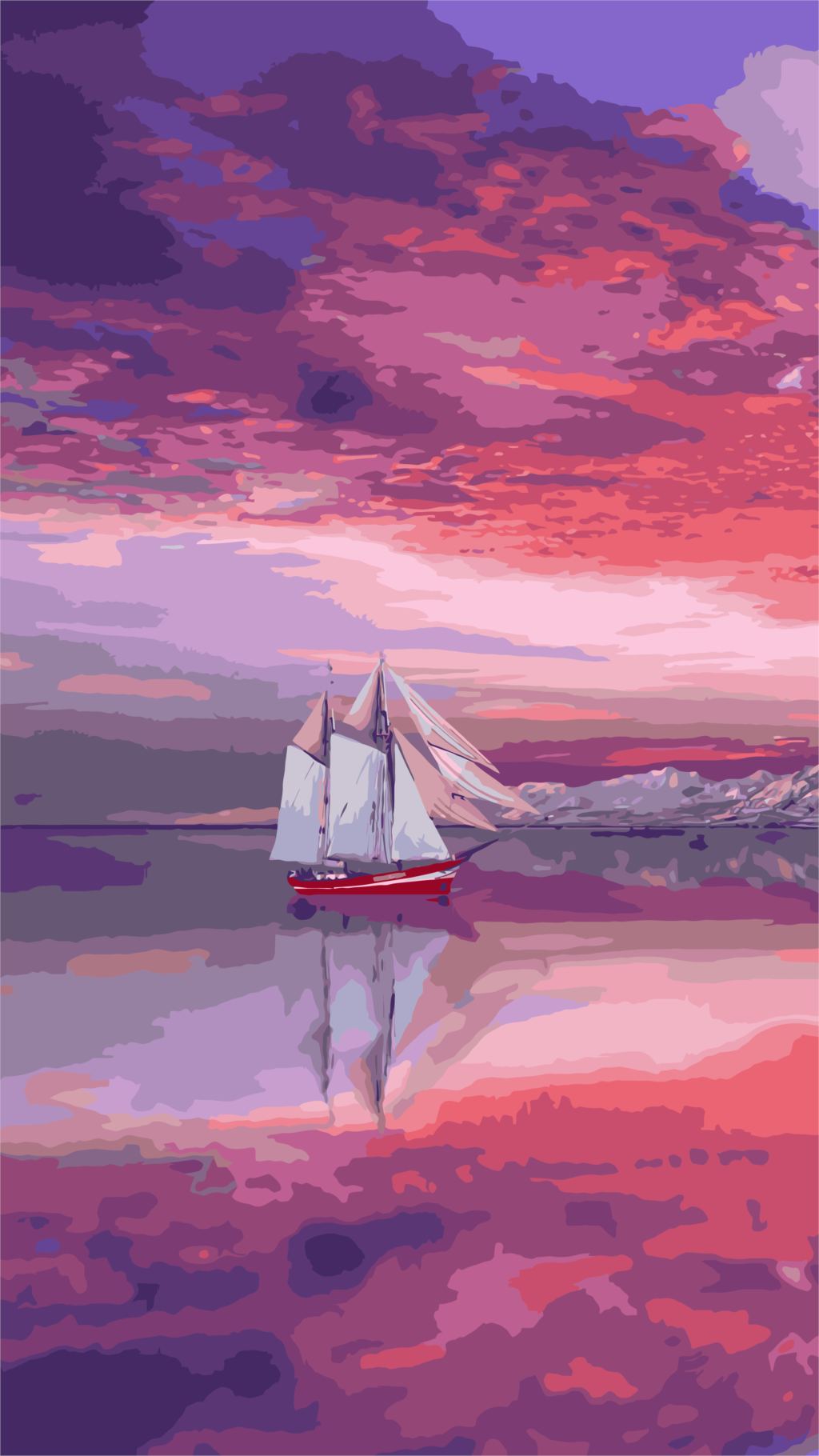 Colorful Sky & Ship Painting Kit