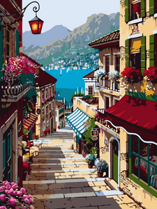 Sea View Town Painting Kit