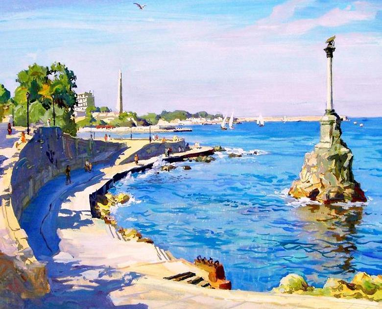Sea View Painting by Numbers
