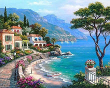 Load image into Gallery viewer, Seaside Town DIY Painting Kit