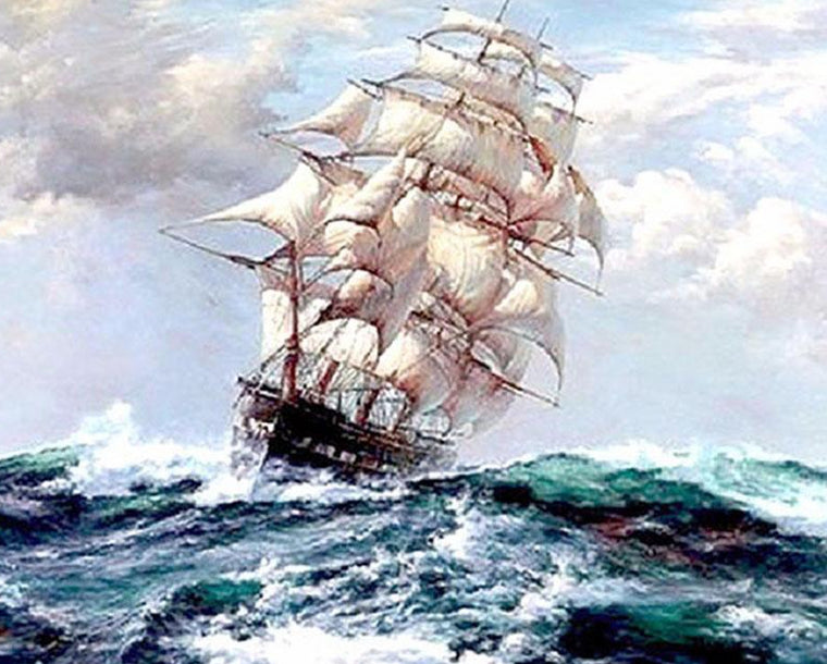 Ship in Storm Paint by Numbers