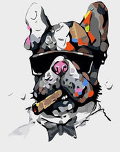 Load image into Gallery viewer, Smoker Bulldog Paint by Numbers
