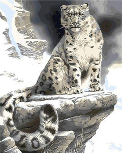 Snow Leopard Paint by Numbers