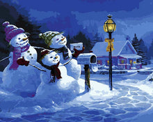 Load image into Gallery viewer, Snowman Family Paint by Numbers