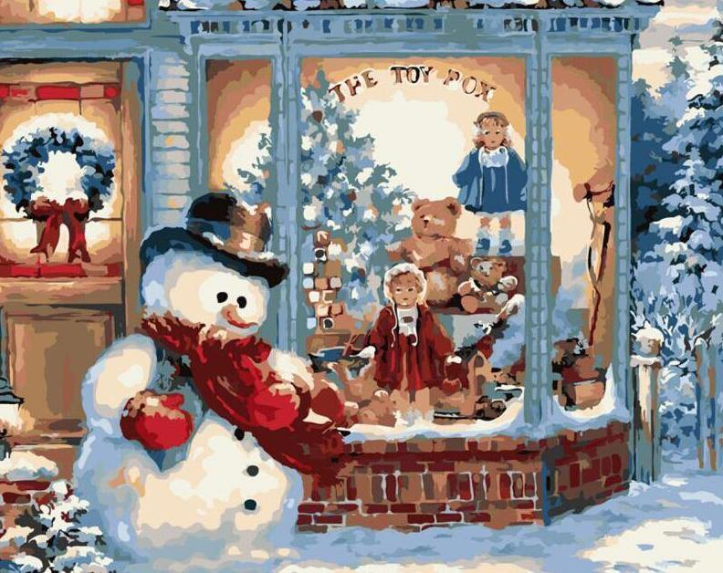 Snowman Painting by Numbers