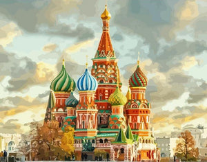 St. Basil's Cathedral Painting by Numbers