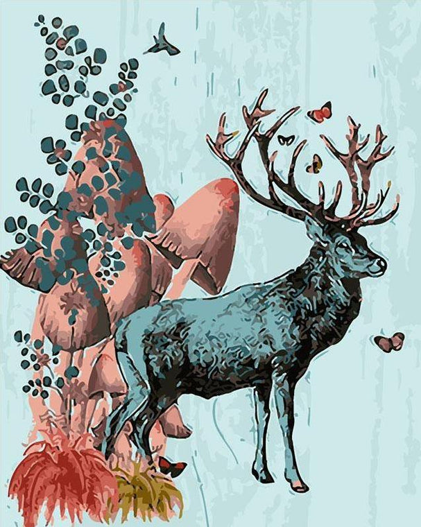 Stag Paint by Numbers