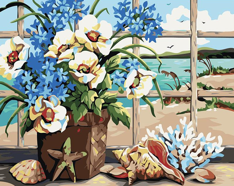 Still Life Flowers Painting by Numbers