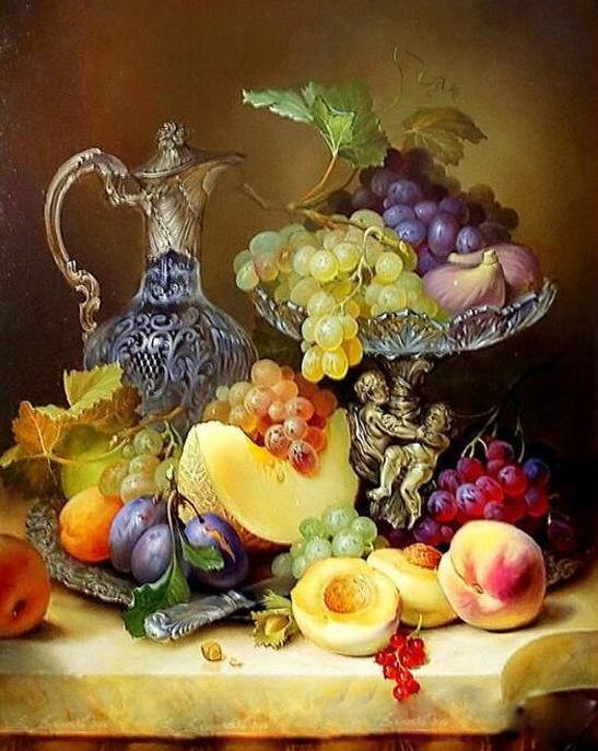 Still Life Fruits Painting by Numbers