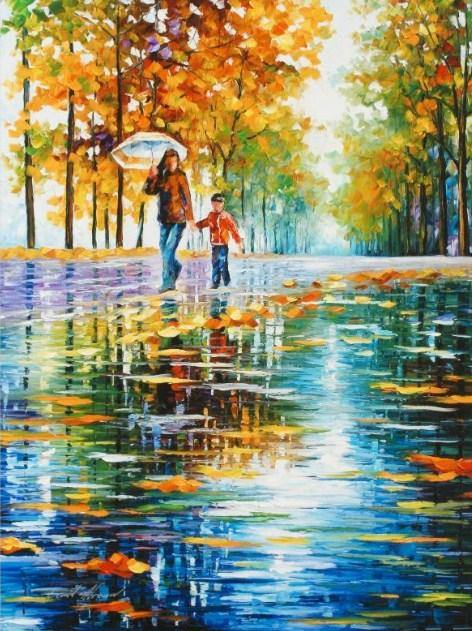 Stroll in Autumn Park Paint by Numbers