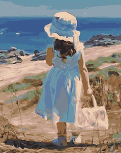 Stroll on the Seashore Paint by Numbers