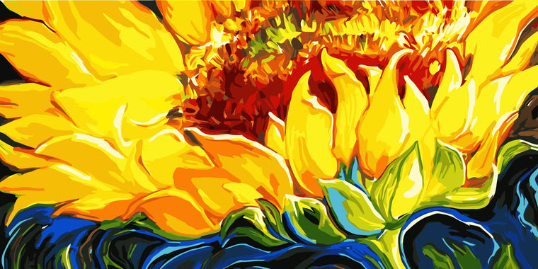 Yellow Sunflower Paint by Numbers